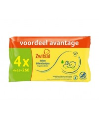 Zwitsal Baby Lotion Baby Wipes 4-Pack