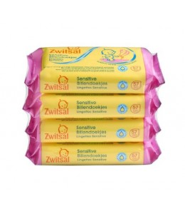 Zwitsal Sensitive Lotion wipes 4-Pack