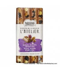Nestle L'atelier Milk Chocolate with raisin hazelnuts almond  195g